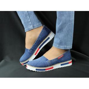 Jeansové dámske topánky LANQIER