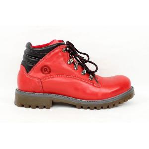 Dámske hrubé zimné topánky červené