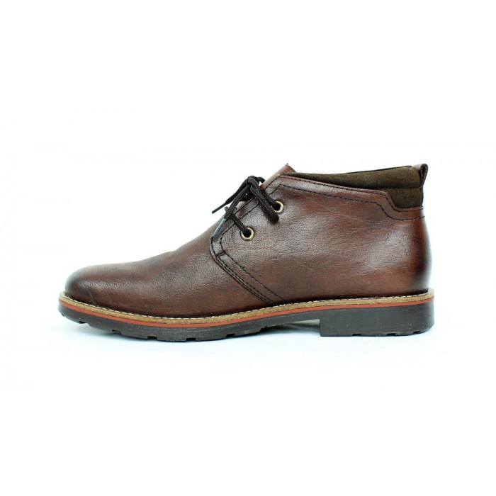 eb973038fae2d Kožená obuv Rieker s ovčou vlnou 17 10663