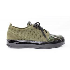 75ade88e514ea Zelené perforované topánky 17 10118