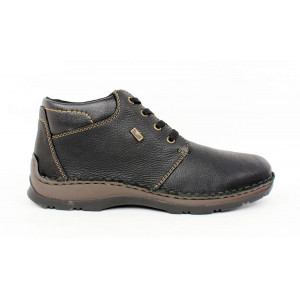 Kožená obuv Rieker s ovčou vlnou 17 10725