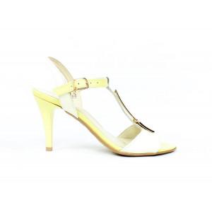 Elegantné žlté sandálky 1372