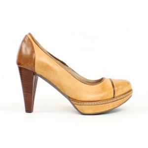 Kožené topánky na podpätku 40099 č.36,38