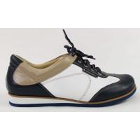 Dámske bielo-modré športové topánky 9615