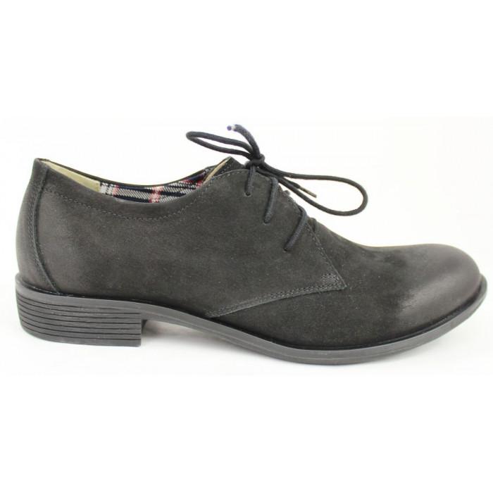 ef1eece4fe76 Šnurovacie topánky z brúsenej kože 403
