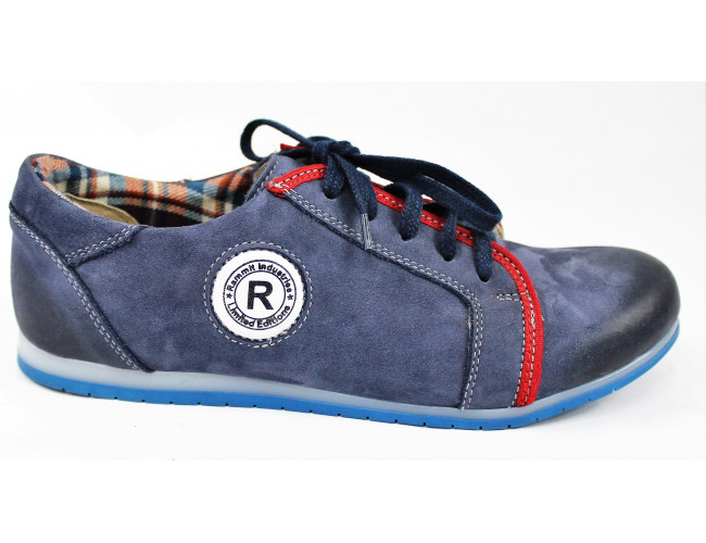 Tmavomodré dámske topánky 9243