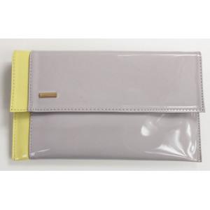 Listová kabelka sivo-žltá 5644