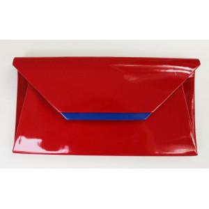 Listová kabelka červená 60023