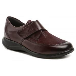 Dámske kožené topánky Axel vínové