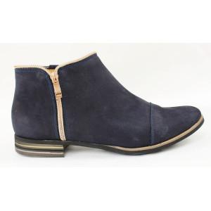 Topánky so zlatým zipsom 9408