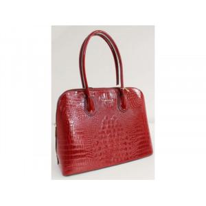 Červené lakovaná kabelka so zvieracím vzorom B