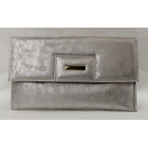 Listová kabelka strieborná 60027