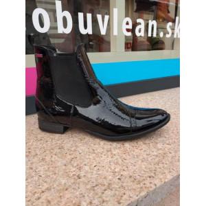 Kožené kotníkové topánky