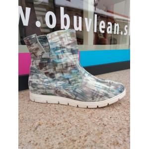 Dámske  zimné kožené topánky