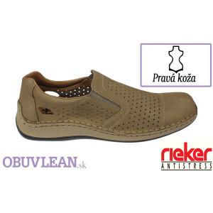 Kožené topánky Rieker 1017