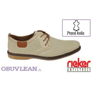 Kožené vychádzkové topánky Rieker 640