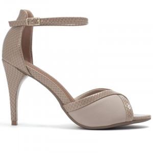 Piccadilly dámske sandále na opätku béžové