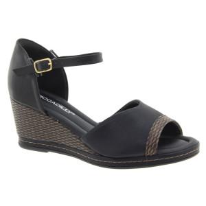 Piccadilly dámske sandále na platforme čierne