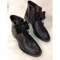 Dámske členkové kožené topánky