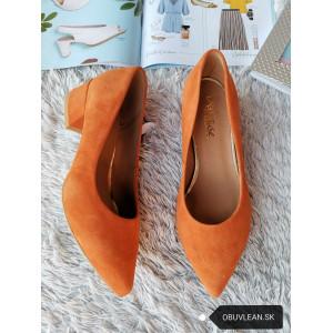 Dámske kožené lodičky- orange