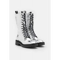 Dámske metalické vysoké topánky Calvin Klein