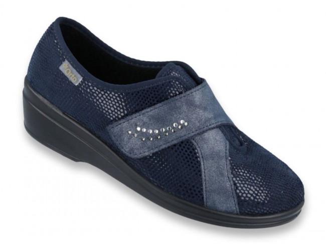 Dámska zdravotná obuv v modrej farbe