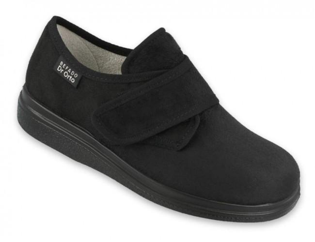 Zdravotná obuv Dr.Orta v čiernej farbe pre dámy