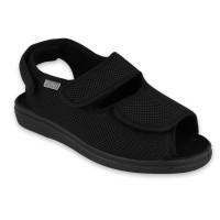Pánske sandále DrOrto v čiernej farbe