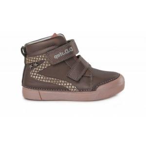 Detská celokožená obuv D.D.Step v hnedej farbe