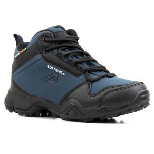 Dámske zateplené trekové topánky American modré