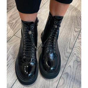 Dámske lesklé topánky Epica